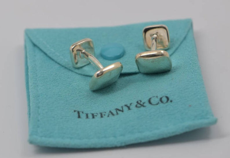 8d82a3eda Sterling Silver Tiffany & Co. 1999 Cuff Links Dog Bone Style | Etsy