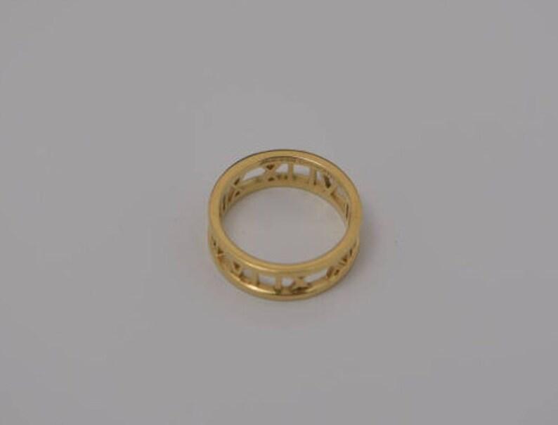 766b0fff8 Tiffany & Co. 18K Yellow Gold Atlas Ring Size 8 | Etsy