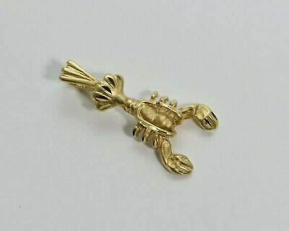 14K Yellow gold Lobster Pendant