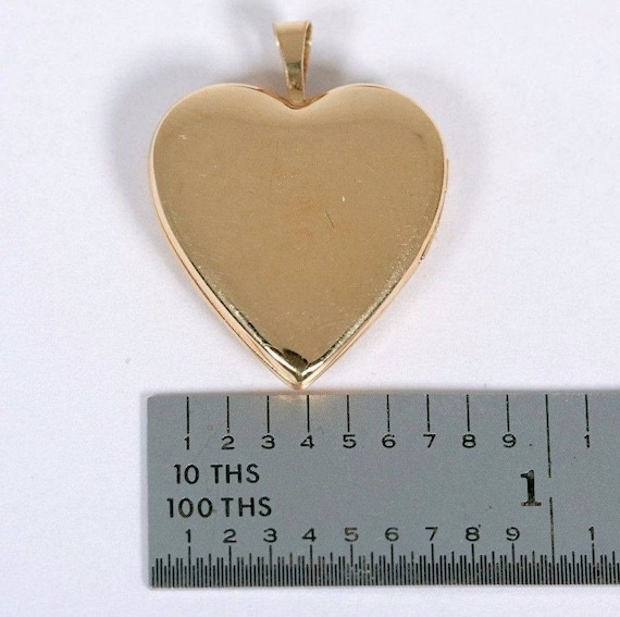 14K Yellow Gold Heart Shaped Locket with Mother o… - image 3