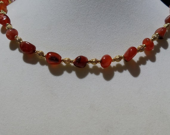 Carnelian and Pewter