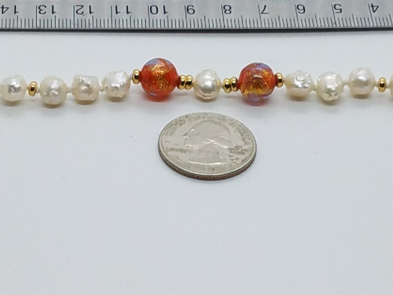 Torch-work Glass and Baroque Fresh-water Pearls