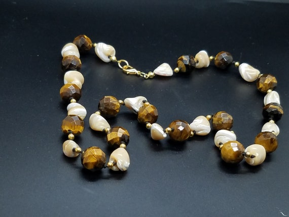 Tiger-Eye and Mother of Pearl