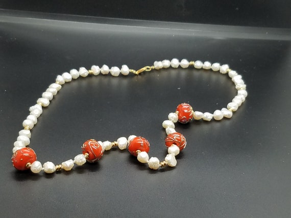 Torch-Work Glass and Baroque Fresh Water Pearls