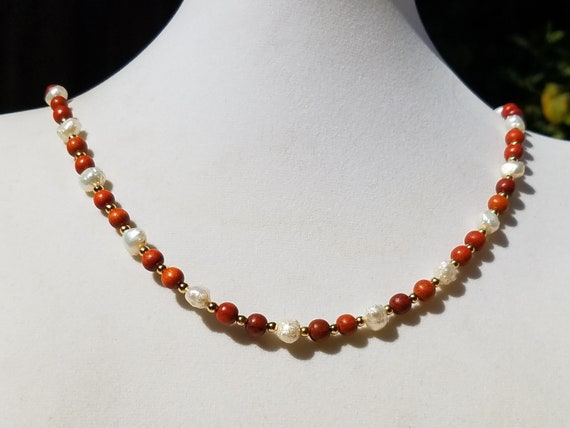 Redwood and Baroque Fresh Water Pearls
