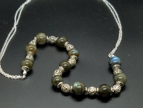 Labradorite and Pewter