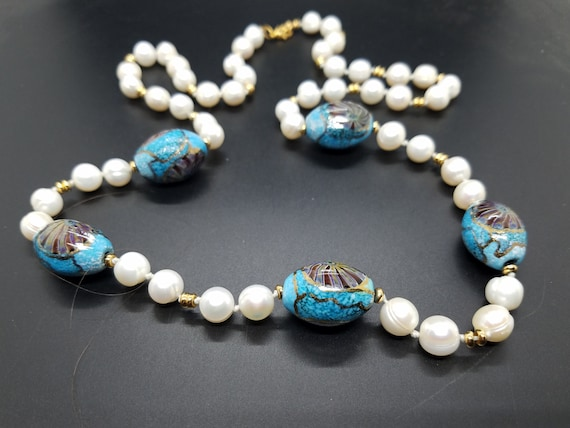 Torch-Work Glass and Fresh-Water Pearls