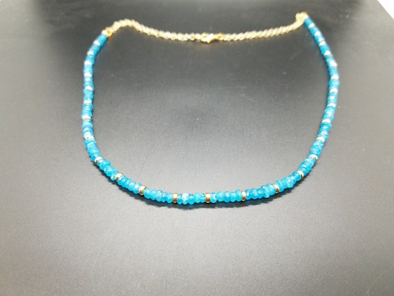 Neon Apatite and Gold