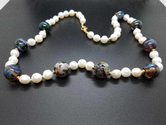 Torch-Work Glass and Fresh Water Pearls
