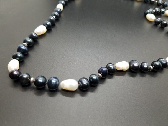 Black and White Fresh Water Pearls