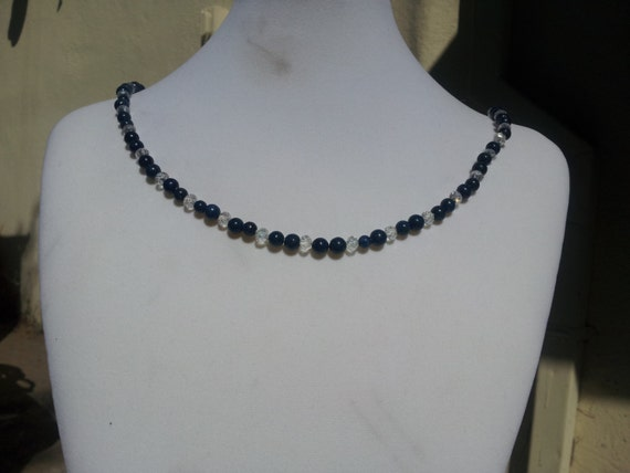 Lapis Lazuli and Glass Necklace