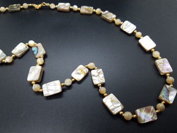 Mother of Pearl, Tiles and Beads