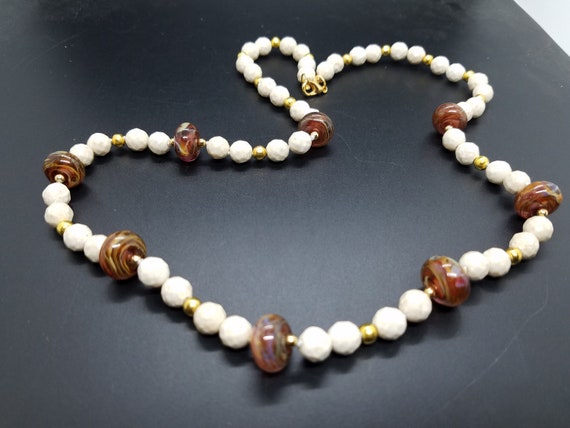 Brown Swirl Glass & Riverstone