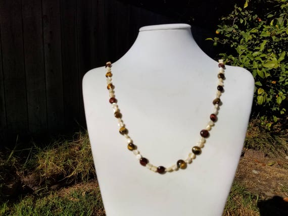 Tiger Eye Coins and Mother of Pearl