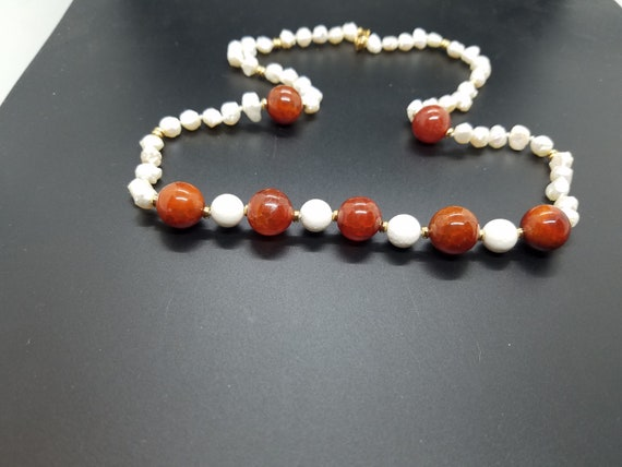 Fire Agate and White Lava