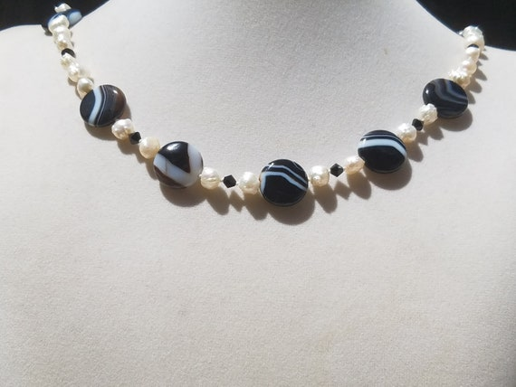 Sardonyx and Baroque Fresh Water Pearls