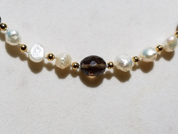 Smokey Quartz and Baroque Fresh Water Pearls