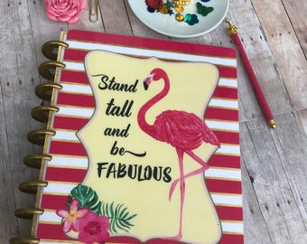 Planner Cover/Flamingo/personal planner/ dashboard