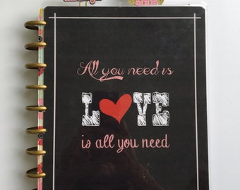 Planner Cover/personal dashboard/ All you need is Love