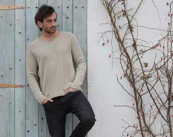 Sweater Man Hemp 100% extreme eco, gift for him, natural styl