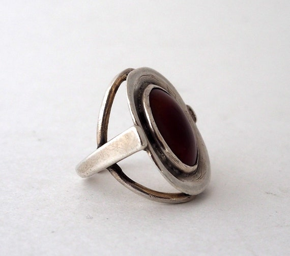 Women/'s Special Carnelian Natural Gemstone Antique Jewelry Birthday Gift Gemstone Handmade Ethnic 925 Sterling Silver Ring Size Adjustable