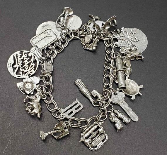 Hockey Goalie Sterling Silver Vintage Charm For Bracelet