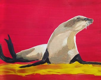 Sea Lion Painting