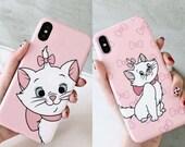Cute Marie Cat iPhone 6 6s 7 8 X XS XR MAX Plus Phone Case