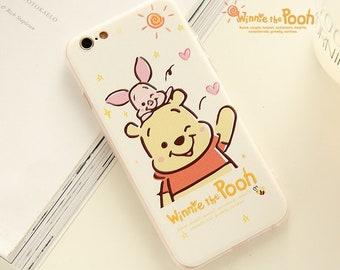 d2759e23b63 Cute Winnie the Pooh Piglet iPhone 6 6s 7 8 X Plus Phone Case