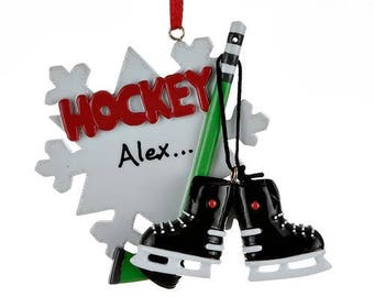 hockey ornament personalized christmas ornament ornament hockey personalized hockey star - Hockey Christmas Ornaments