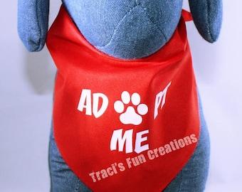 Adopt Me Dog Bandana, Dog Bandana, Funny Bandana,Adopt Me, Rescue