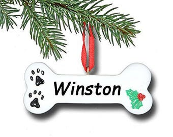 Dog Bone Personalized Christmas Ornament, Ornament,Personalized, Dog Bone Ornament, Personalized Ornament, Dog Bone