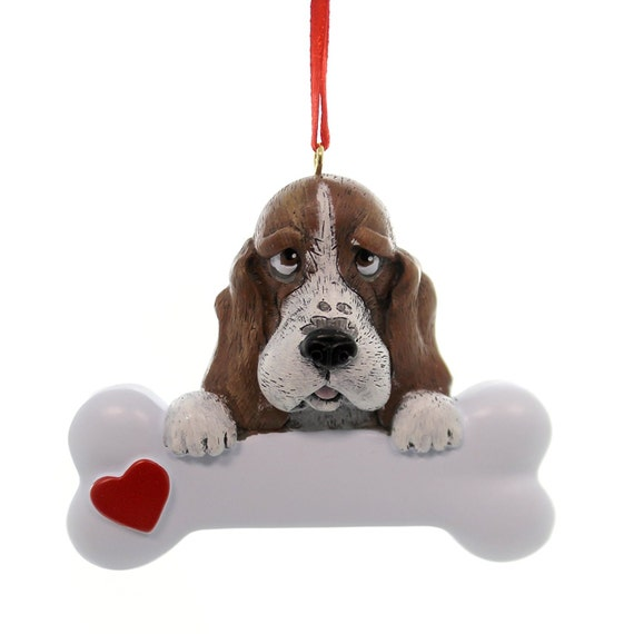 Basset Hound Personalized Christmas Ornament, Basset Hound, Ornament,Personalized,  Basset Hound Ornament, Personalized Ornament, basset - Basset Hound Personalized Christmas Ornament Basset Hound Etsy
