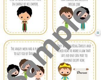 Scripture Sequence Story Cards - Daniel and the Lions' Den