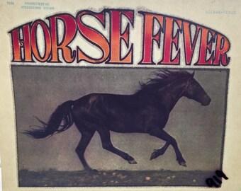 Horse Fever Glitter Vintage Iron On Heat Transfer