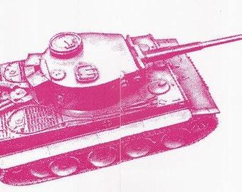 Tank Vintage Iron On Heat Transfer