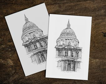 St Pauls Cathedral sketch