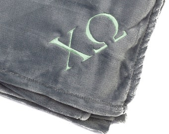 52cda77cf8 Chi Omega Plush Throw Blanket