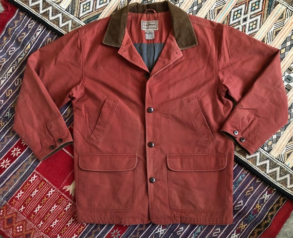 L.L. Bean Red / Salmon Colored Vintage Barn Jacket