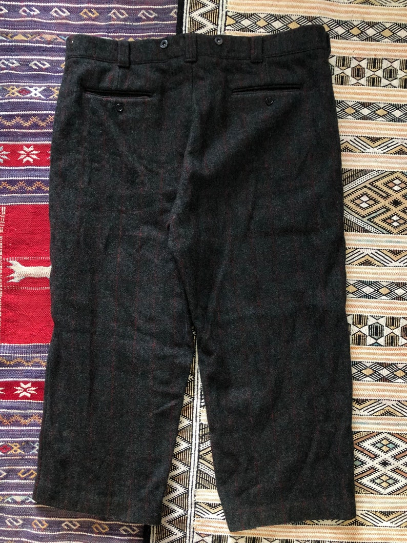 Bean Vintage Wool Windowpane Hunting Trousers USA Made 42 L.L
