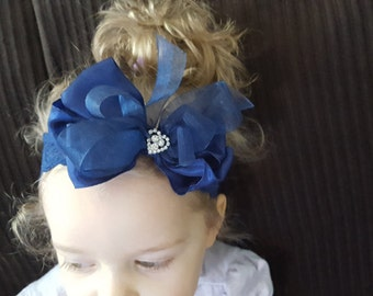 Embellished Blue Headband