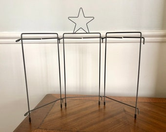 Star Nativity Tri-Stand, Wire Stand, Table Top Holder, Ackfeld Wire, for Nativity Punch Needle Design