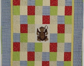 My 5 Monkeys, Quilt Pattern, Punch Needle, Paper Copy