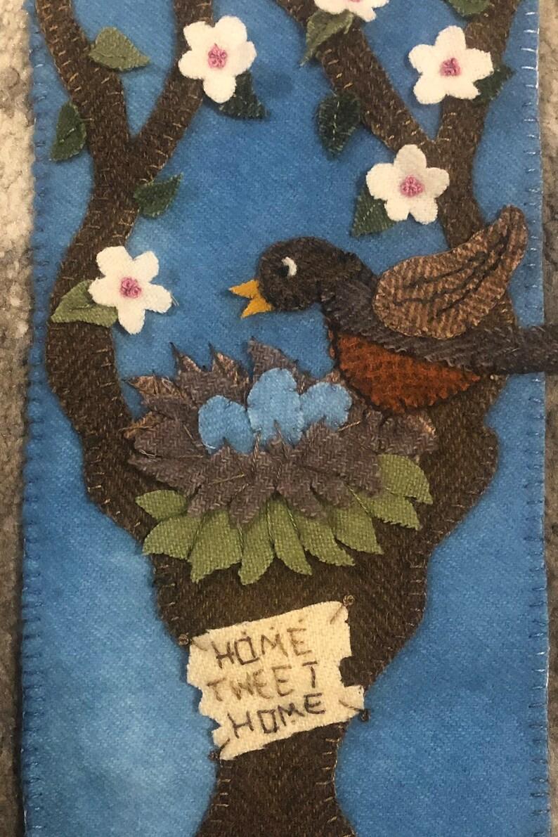 Home Tweet Home Wool Applique EPattern Just Because Series image 0