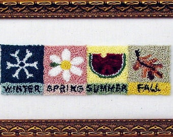 Four Seasons, Punch Needle Art, Instant Download