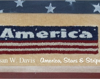 America, PDF Download, Punch Needle Pattern