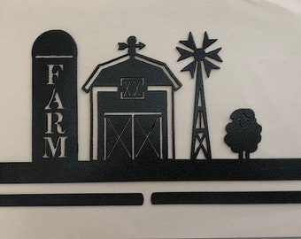 "Down on the Farm, 12"" Metal Craft Holder"