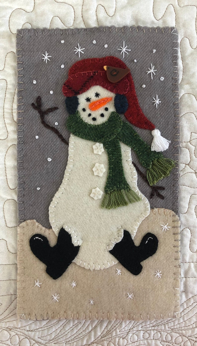 Snow Buddy Just Because Series Wool Applique EPattern image 0