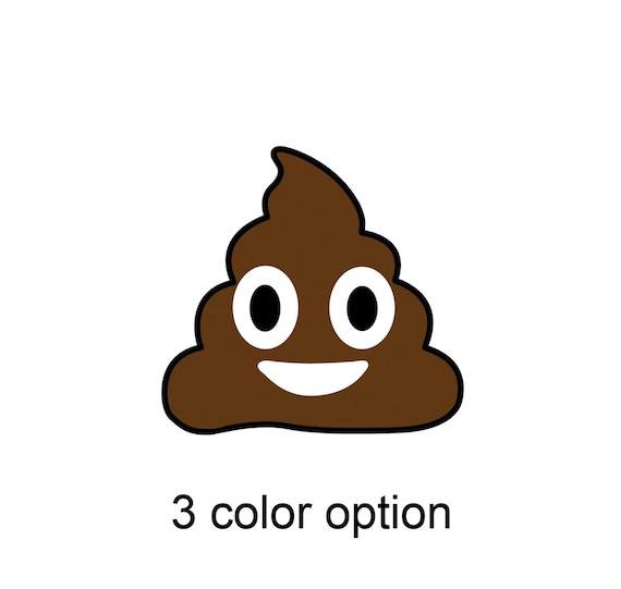 Emoji poo sticker poop funny vinyl car decal sticker Emoticon smile shit pooing