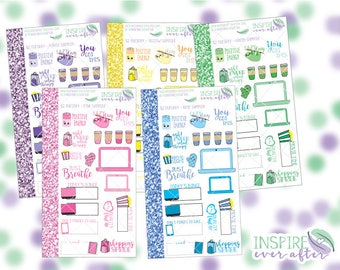 Two Dollar Tuesday - Icon Sampler in Multiple Color Ways ~ Planner Stickers